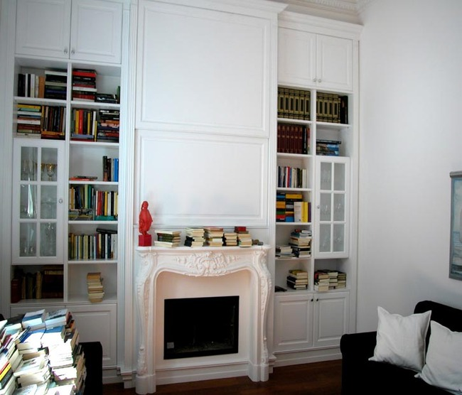 Libreria laccata bianca - Falegnameria Scala